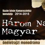 Három napig magyar monodráma plakát 2