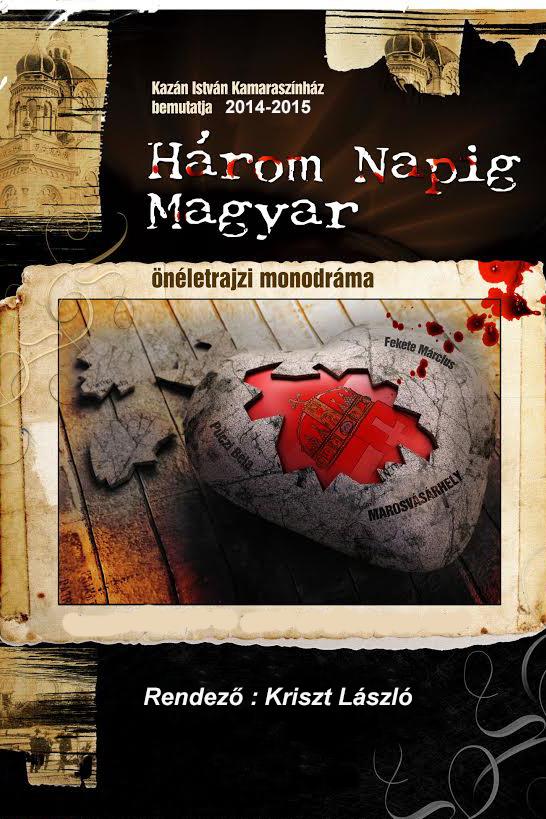 Három napig magyar monodráma plakát