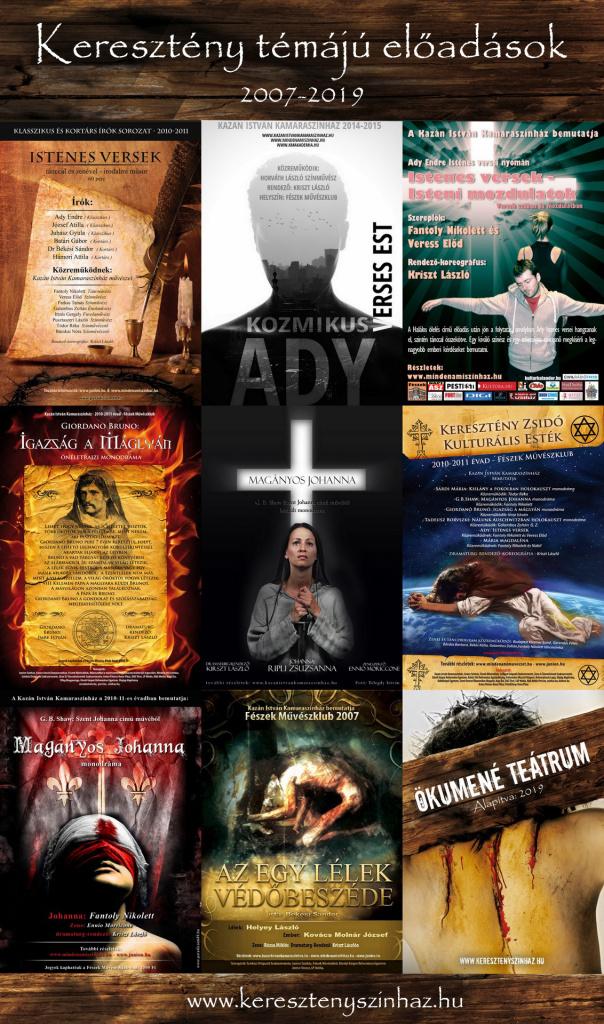 kereszteny temaju eloadasok plakátjai 20072019